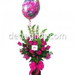 Rosas y campanita