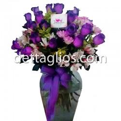 Rosas Moradas o Azules