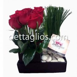 Jardín de 12 rosas