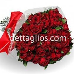 100 rosas en celofan