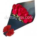 12 Rosas en papel negro