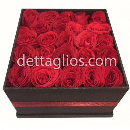 25 rosas en Caja