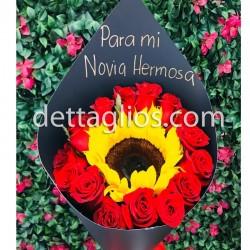 Rosas con Girasol