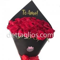 24 rosas en Papel Negro