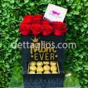 Caja Rosas y Ferrero