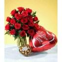 Rosas, Ferrero y Globo